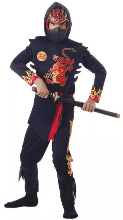 Ninja of The Black Dragon Child Costume