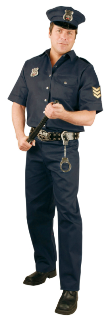 Police Officer Plus Adult Costume