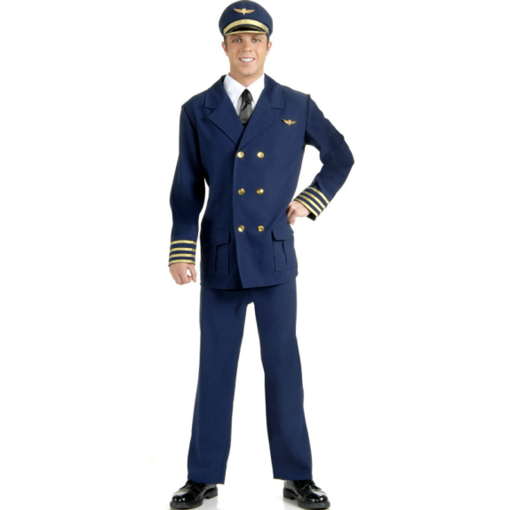 Airline Pilot Adult Costume
