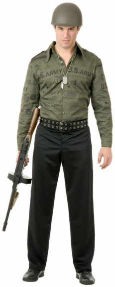 G I Shirt Army Adult Costume