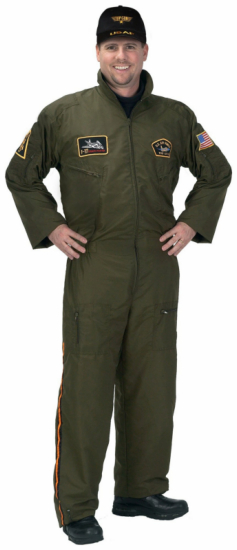 Armed Forces Pilot with Cap Adult Costume
