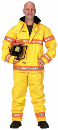Firefighter Suit with Helmet Adult Costume