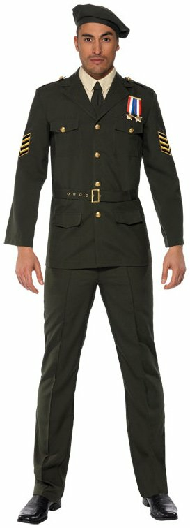 Wartime Officer Male Adult Costume