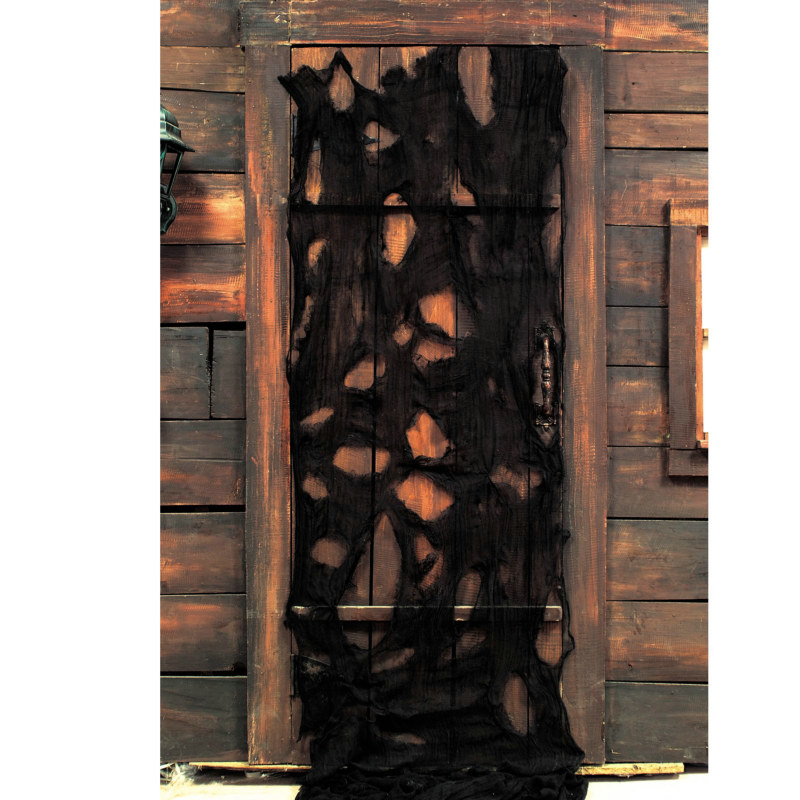12' Black Creepy Cloth Decoration