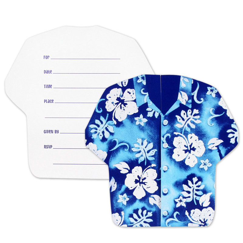 Bahama Breeze Shirt-Shaped Invitations (8 count)