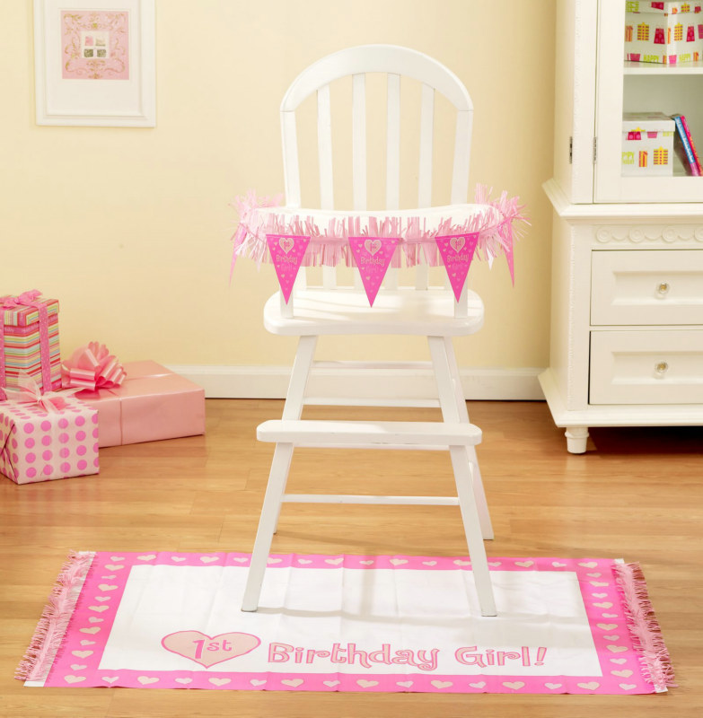 One Special Girl High Chair Decorating Set