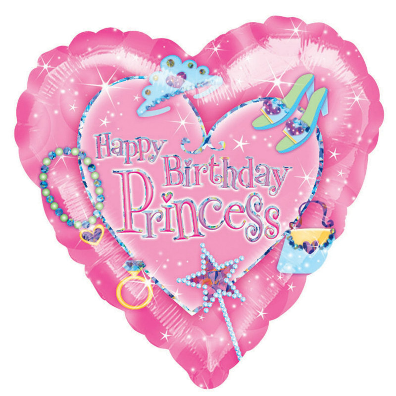 "18"" Princess Heart-Shaped Foil Balloon"