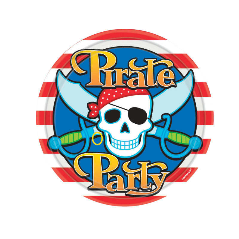 Pirate Party Dinner Plates (8 count)