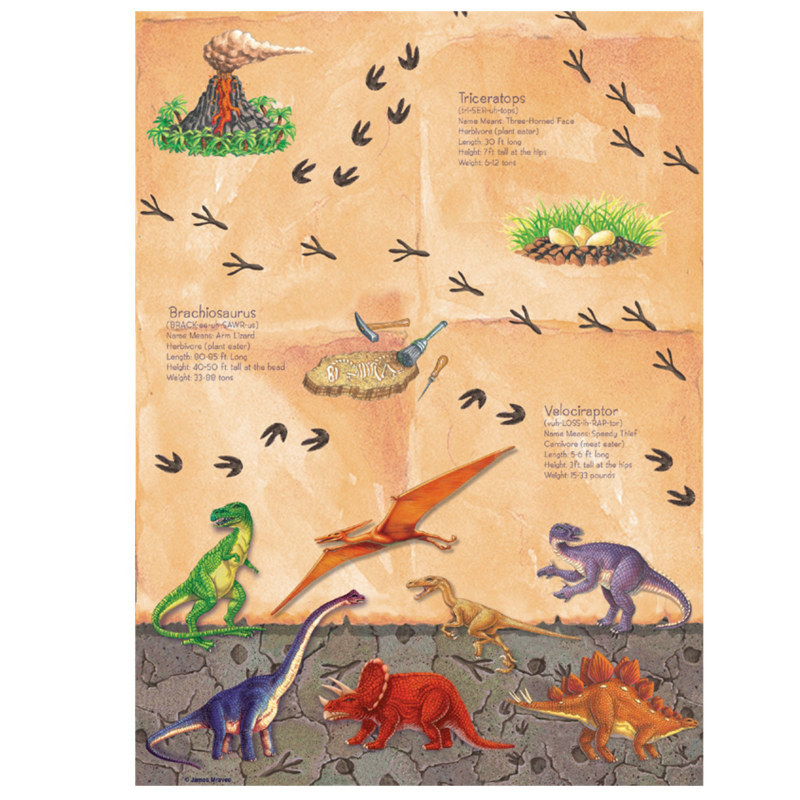Diggin' For Dinos Plastic Tablecover