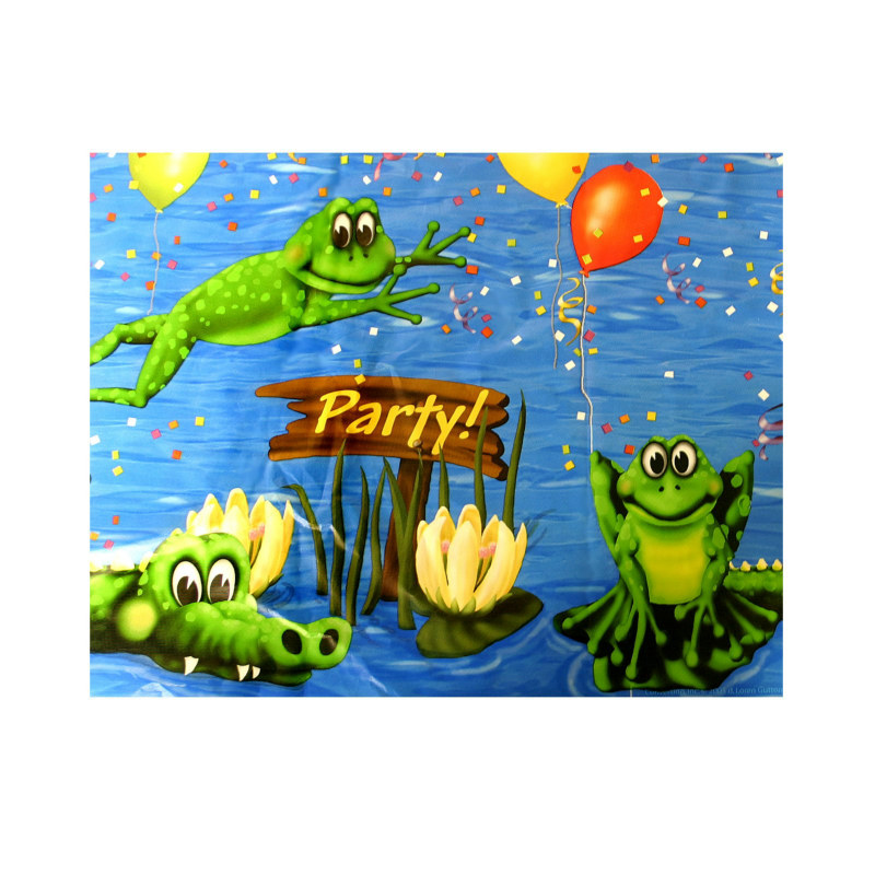 Swamp Party Plastic Tablecover