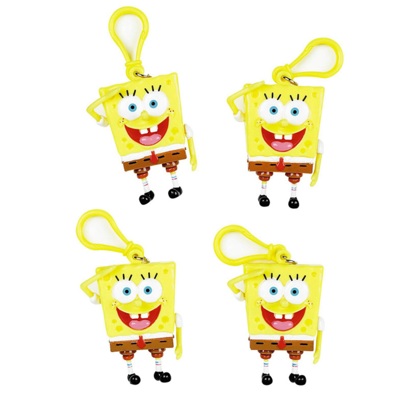 SpongeBob Backpack Clips (4 count) - Click Image to Close
