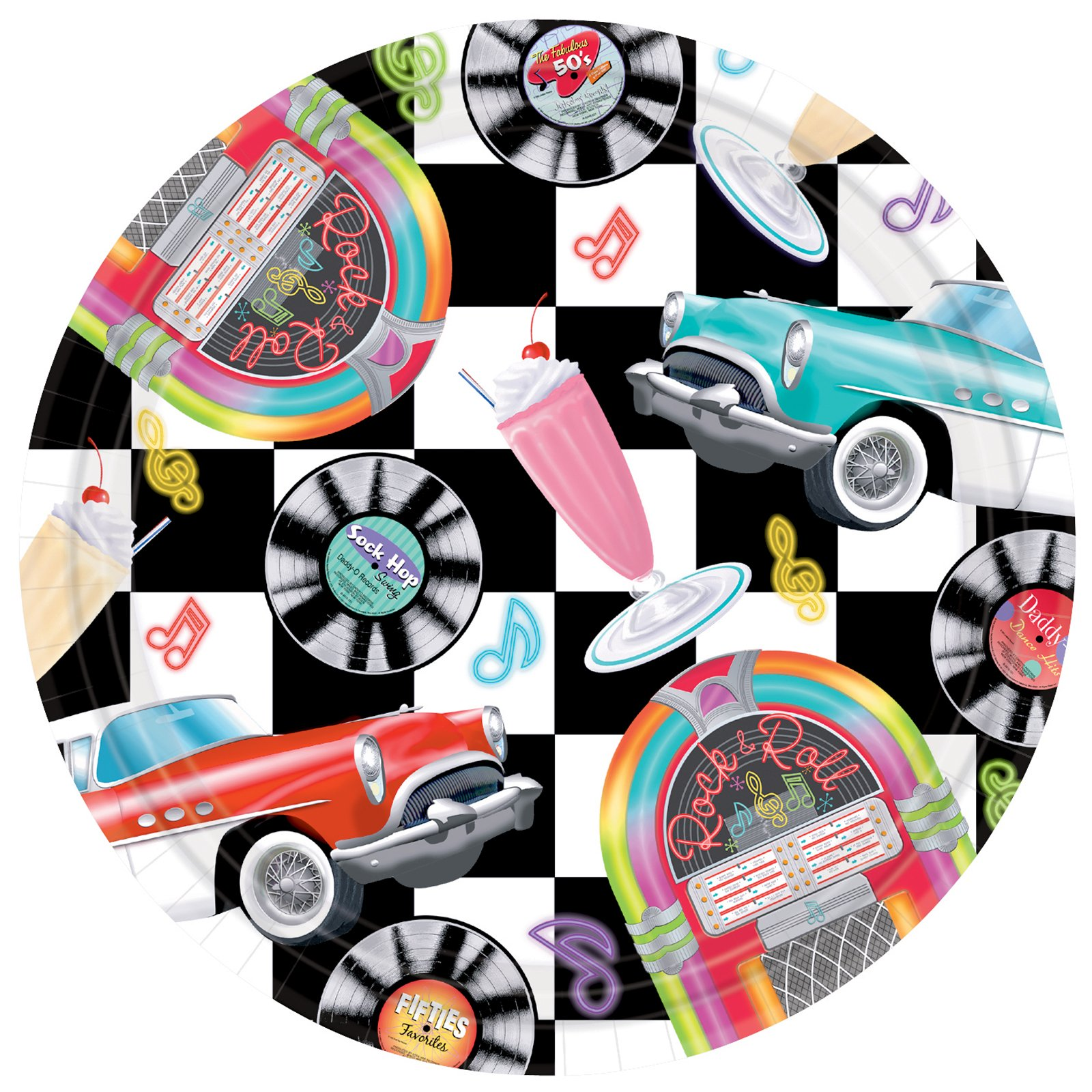 Sock Hop Dinner Plates (8 count)