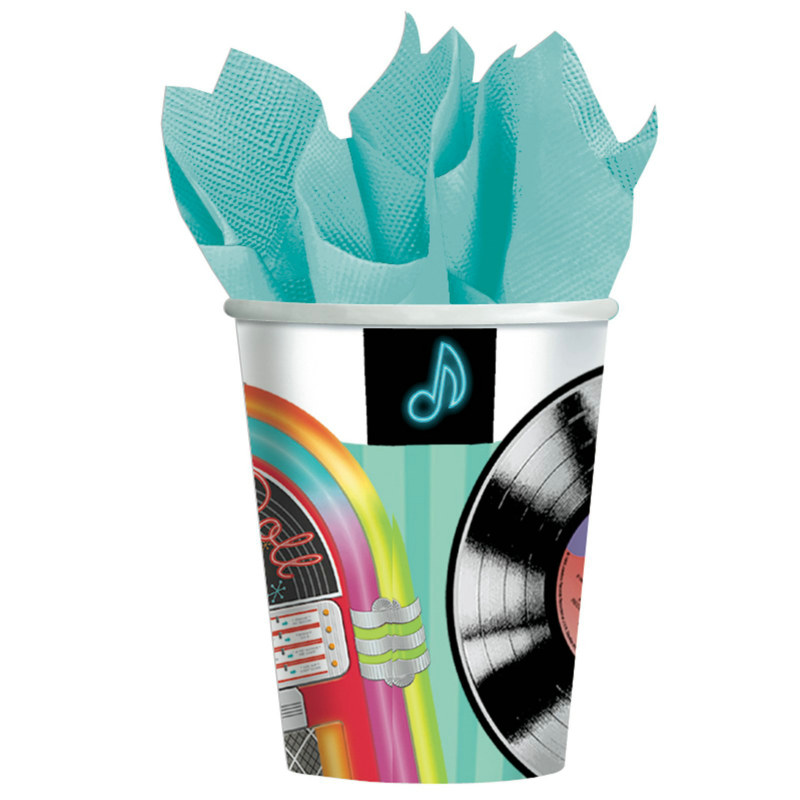 Sock Hop 9 oz. Paper Cups (8 count)