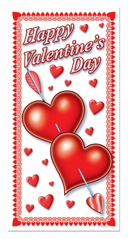 5' Happy Valentine's Day Door Cover