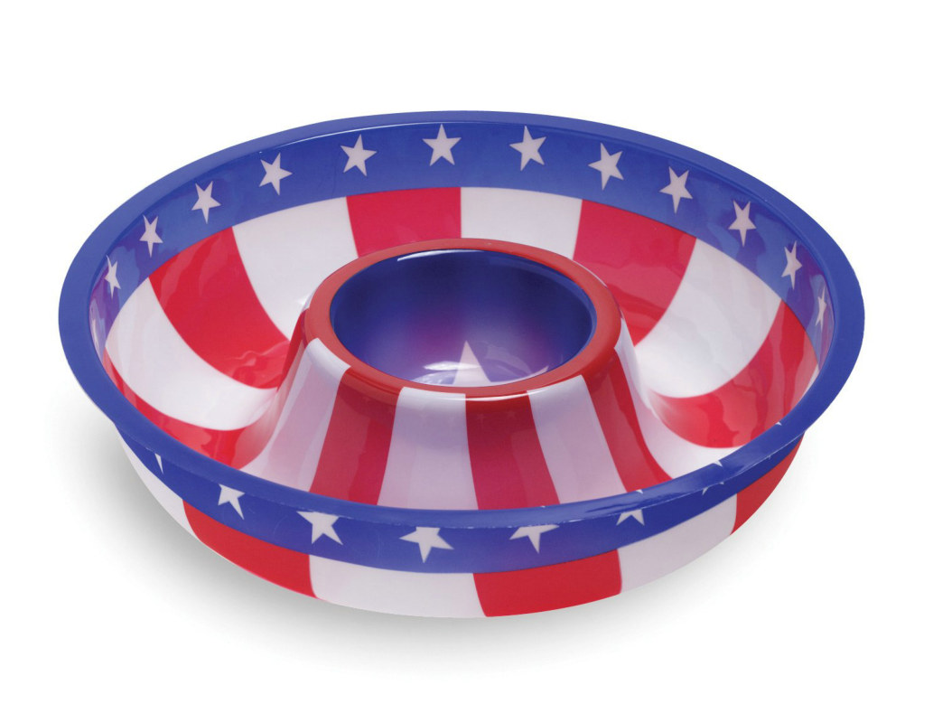 Patriotic Chip and Dip Tray 12""