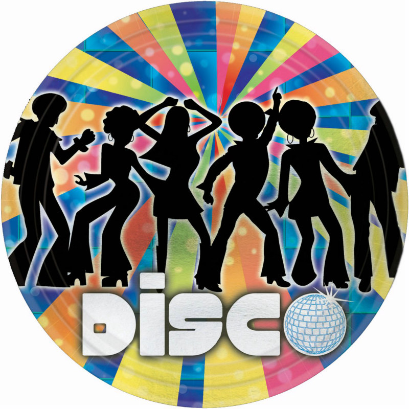 70's Disco Metallic Dinner Plates (8 count)