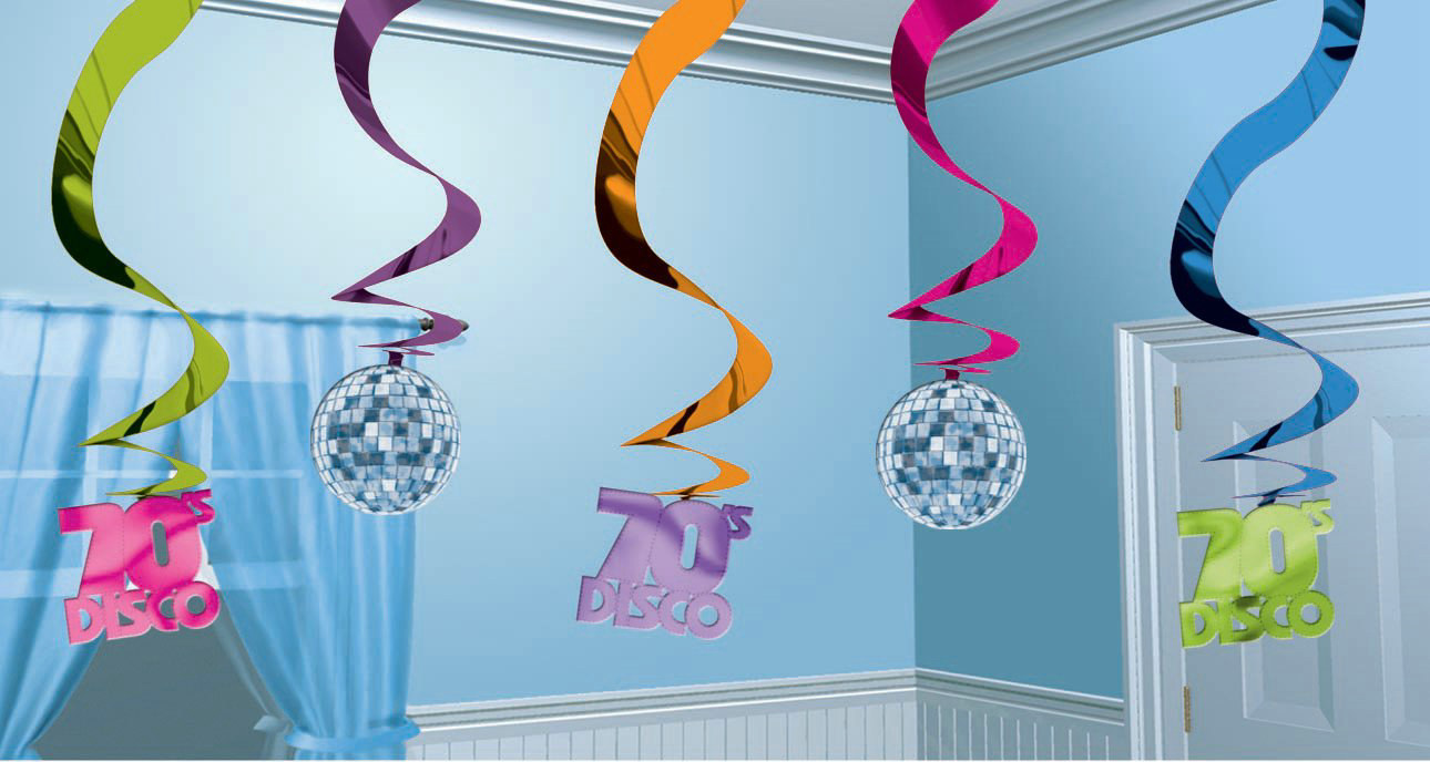 Disco Hanging Swirls (5 count)