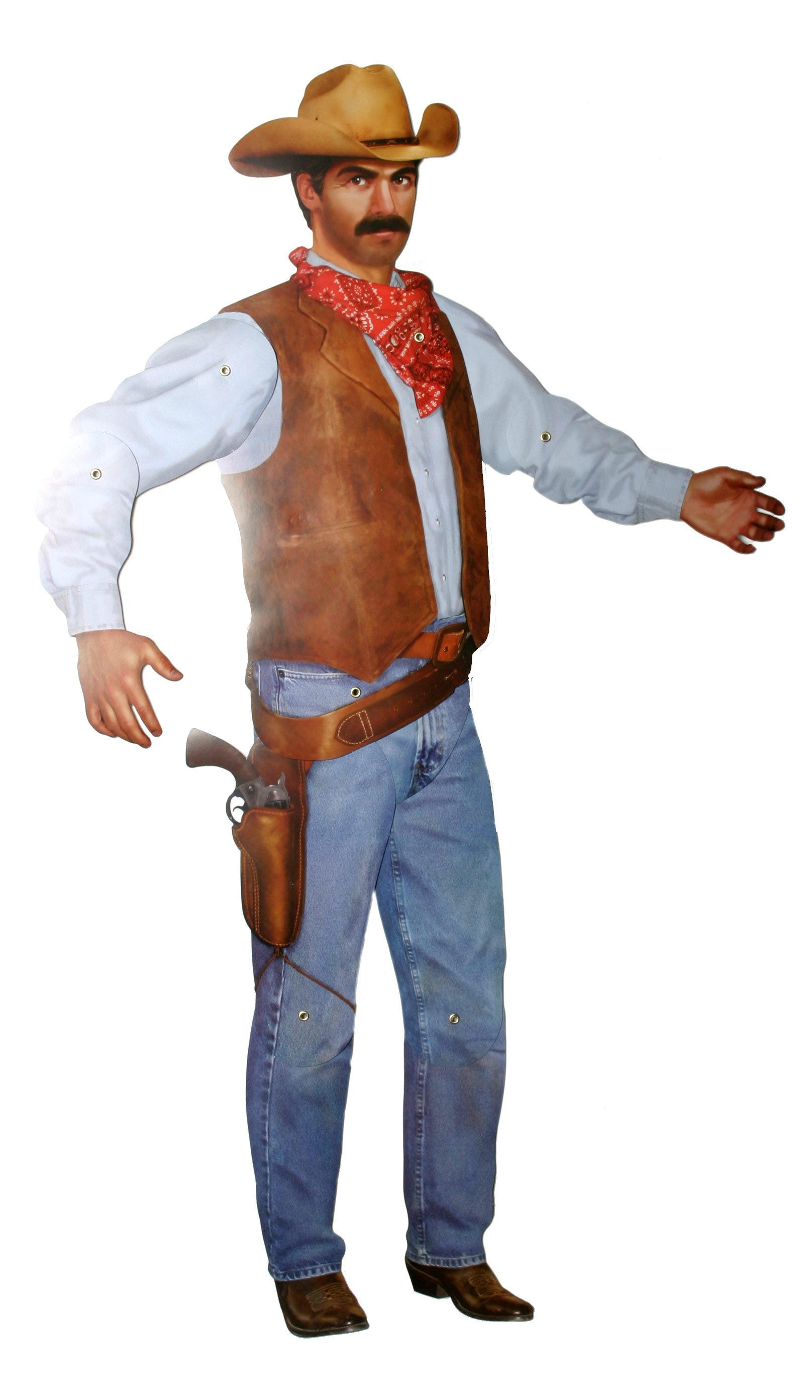 "38"" Jointed Adult Cowboy Cutout"