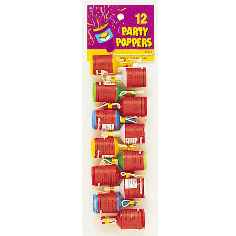 Party Poppers (12 count)