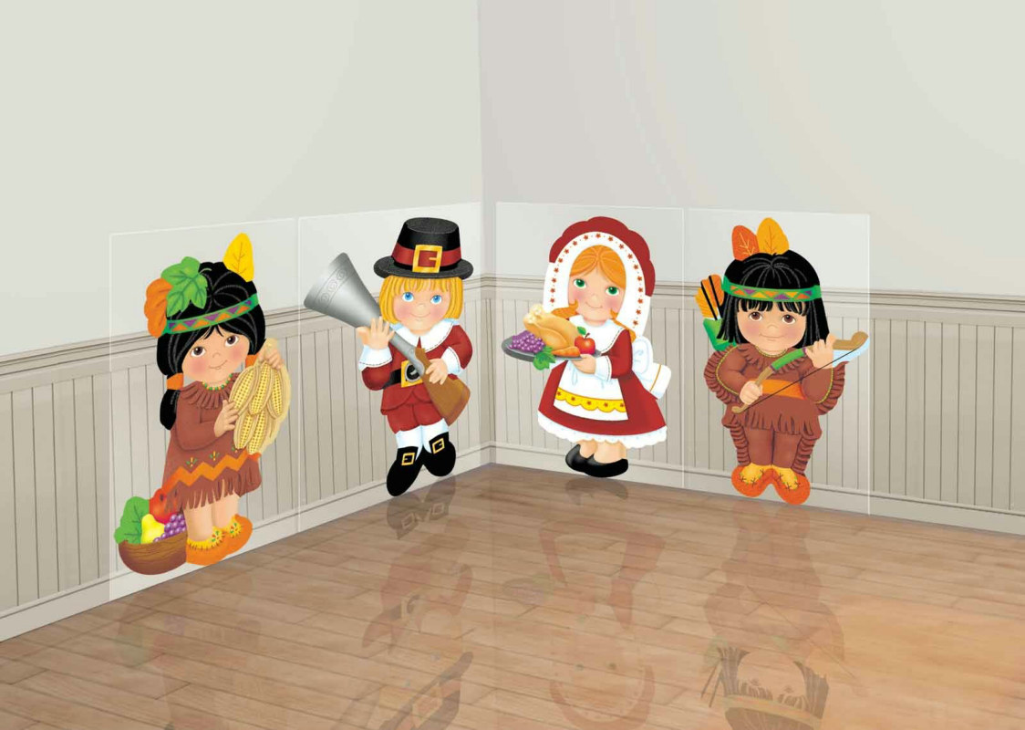 Thanksgiving Kids Scene Setters Add-Ons (4 count)