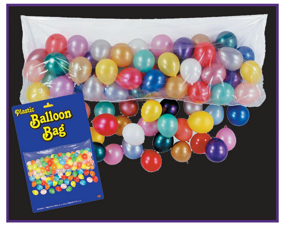 Plastic Balloon Bag with Balloons