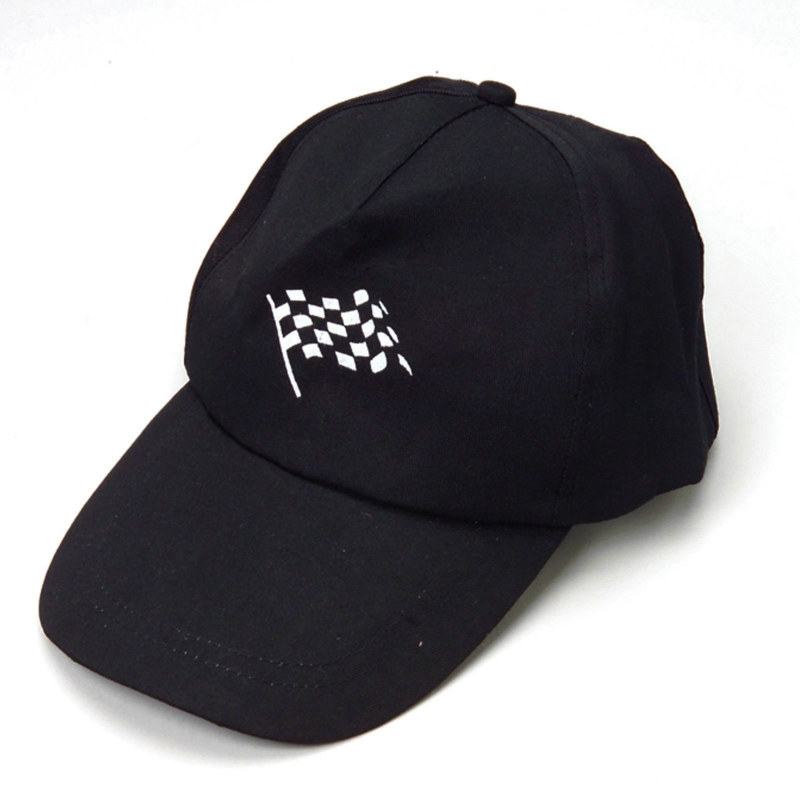 Black Racing Cap