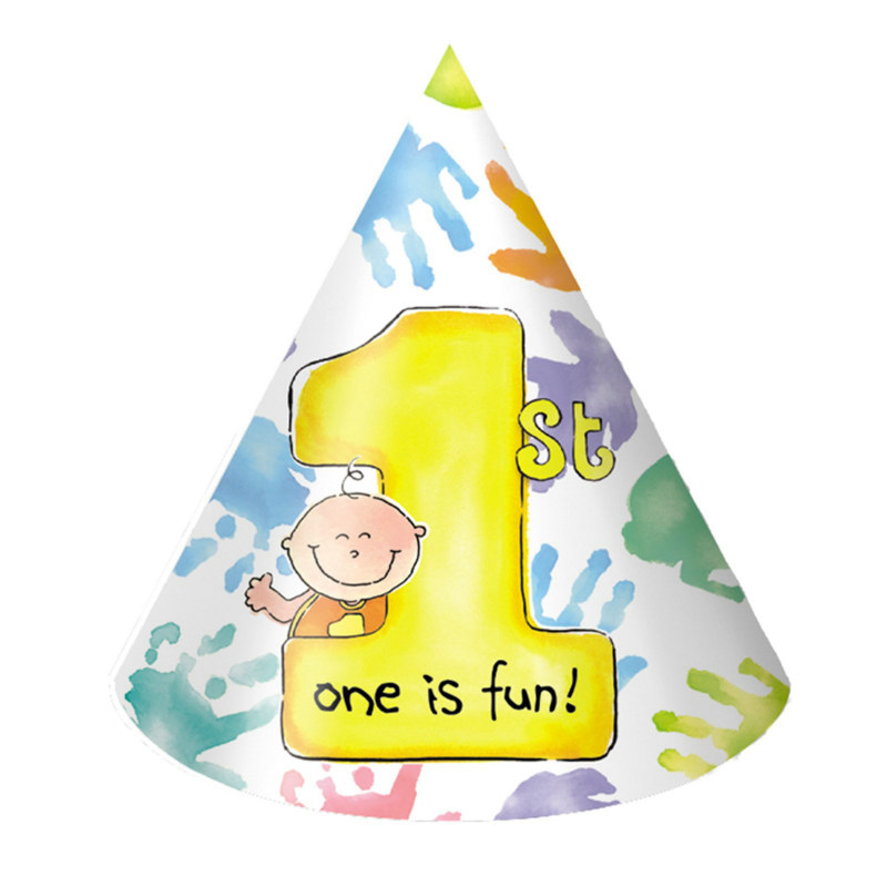 One is Fun Cone Hats (8 count)