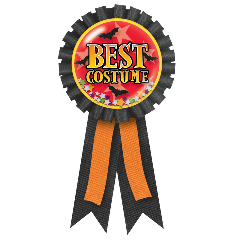 Best Costume Confetti Pouch Award Ribbon