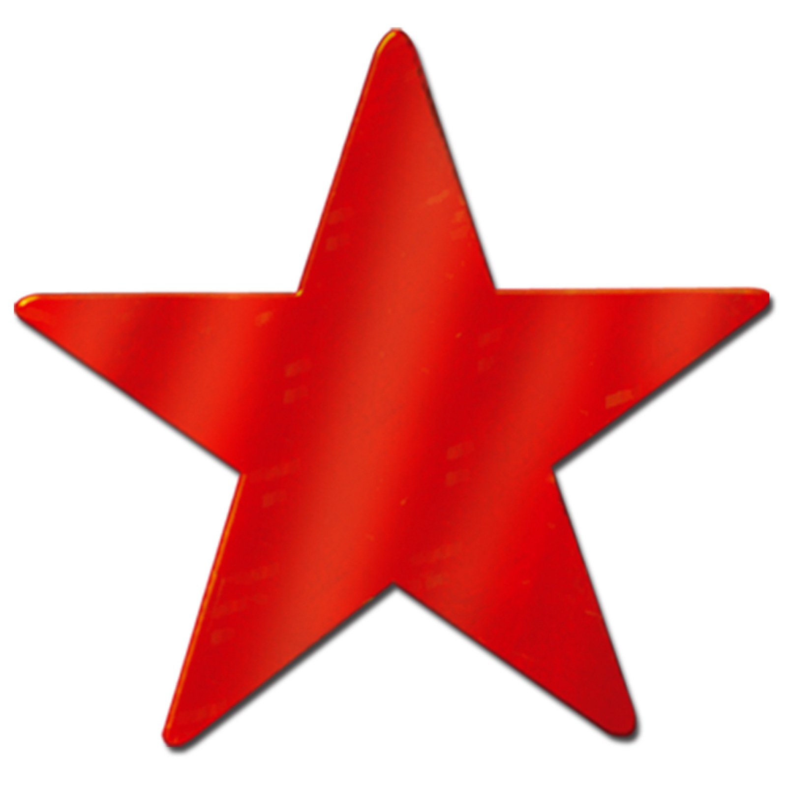 "5"" Red Foil Star (1 count)"