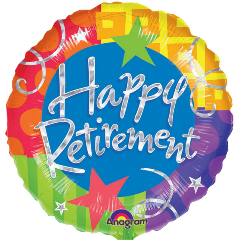 "Happy Retirement 18"" Foil Balloon"