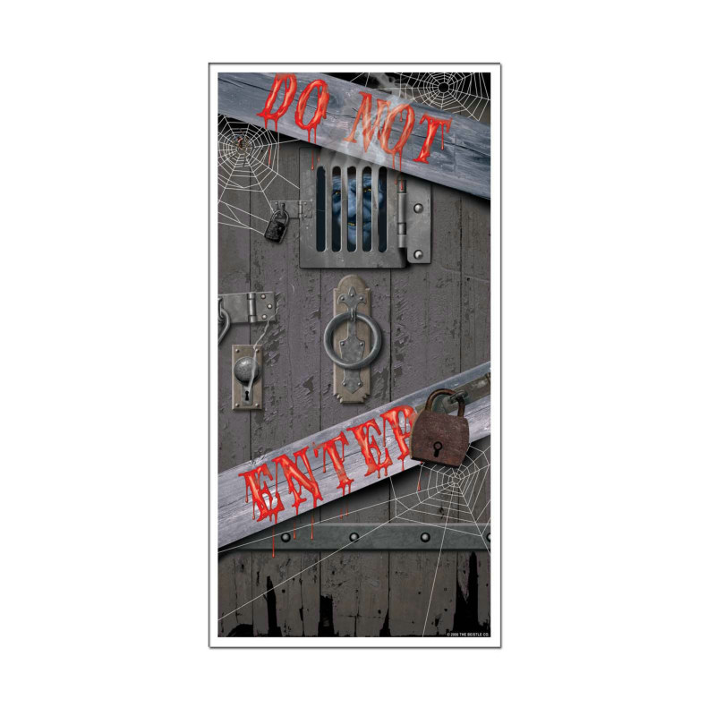 5' Haunted Halloween Door Cover