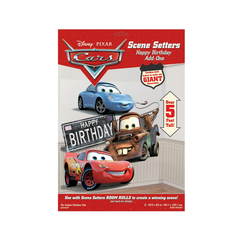 5' Disney's Cars Happy Birthday Add-On