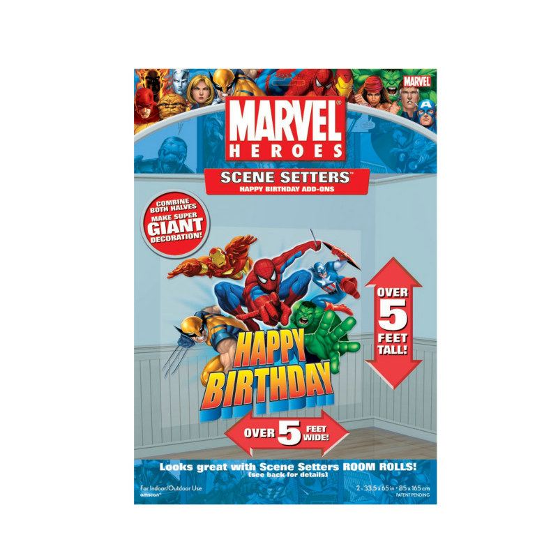 5' Marvel Heroes Happy Birthday Add-On