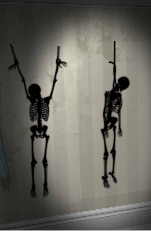 Hanging Skeletons Wall Add-Ons (2 count)