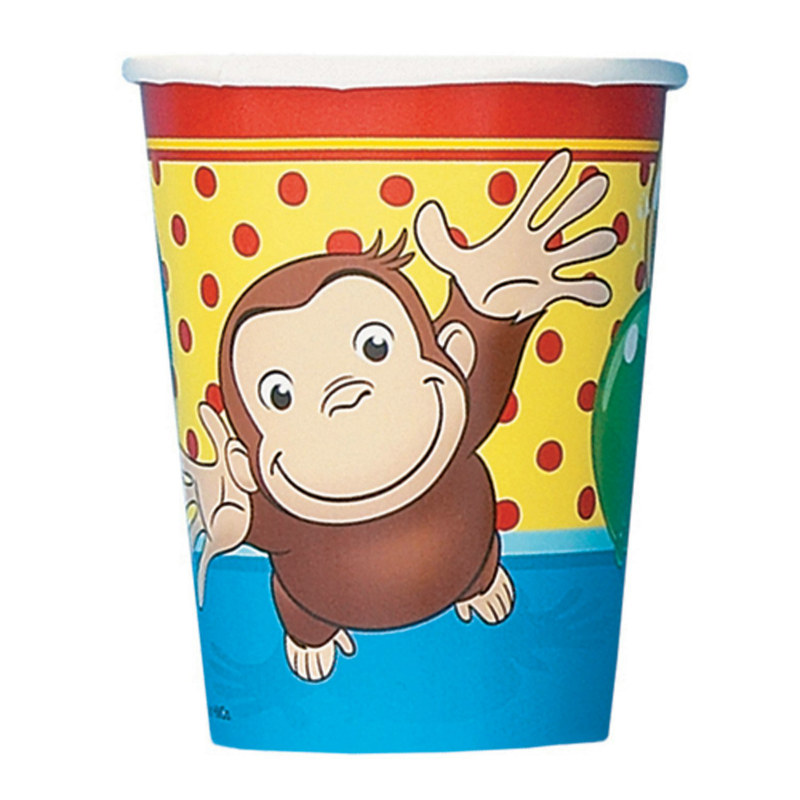 Curious George 9 oz. Paper Cups (8 count)