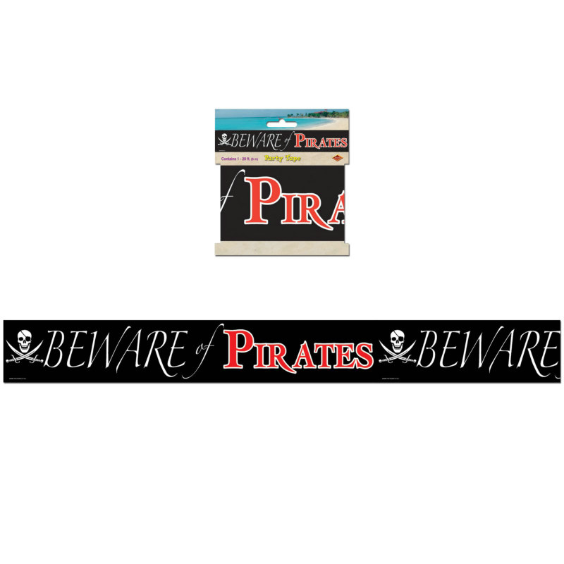 Beware of Pirates Party Tape - 20'