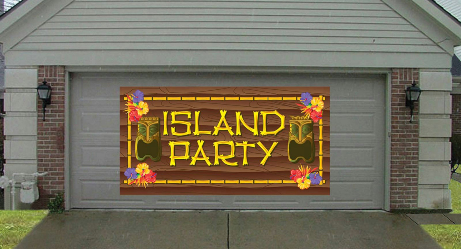 10' Island Party Giant Greeting Banner