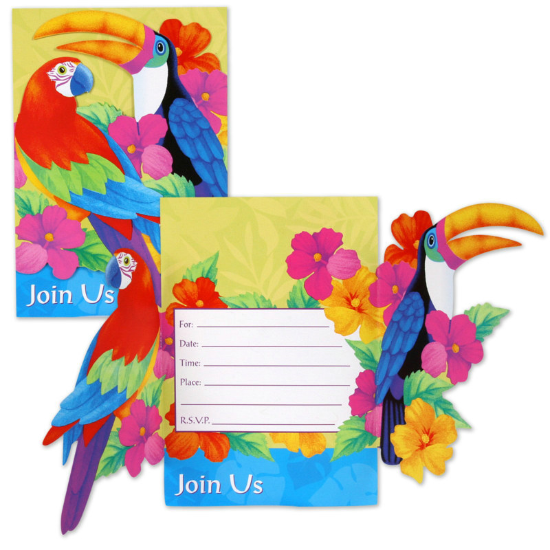Birds of Paradise Invitations (8 count)