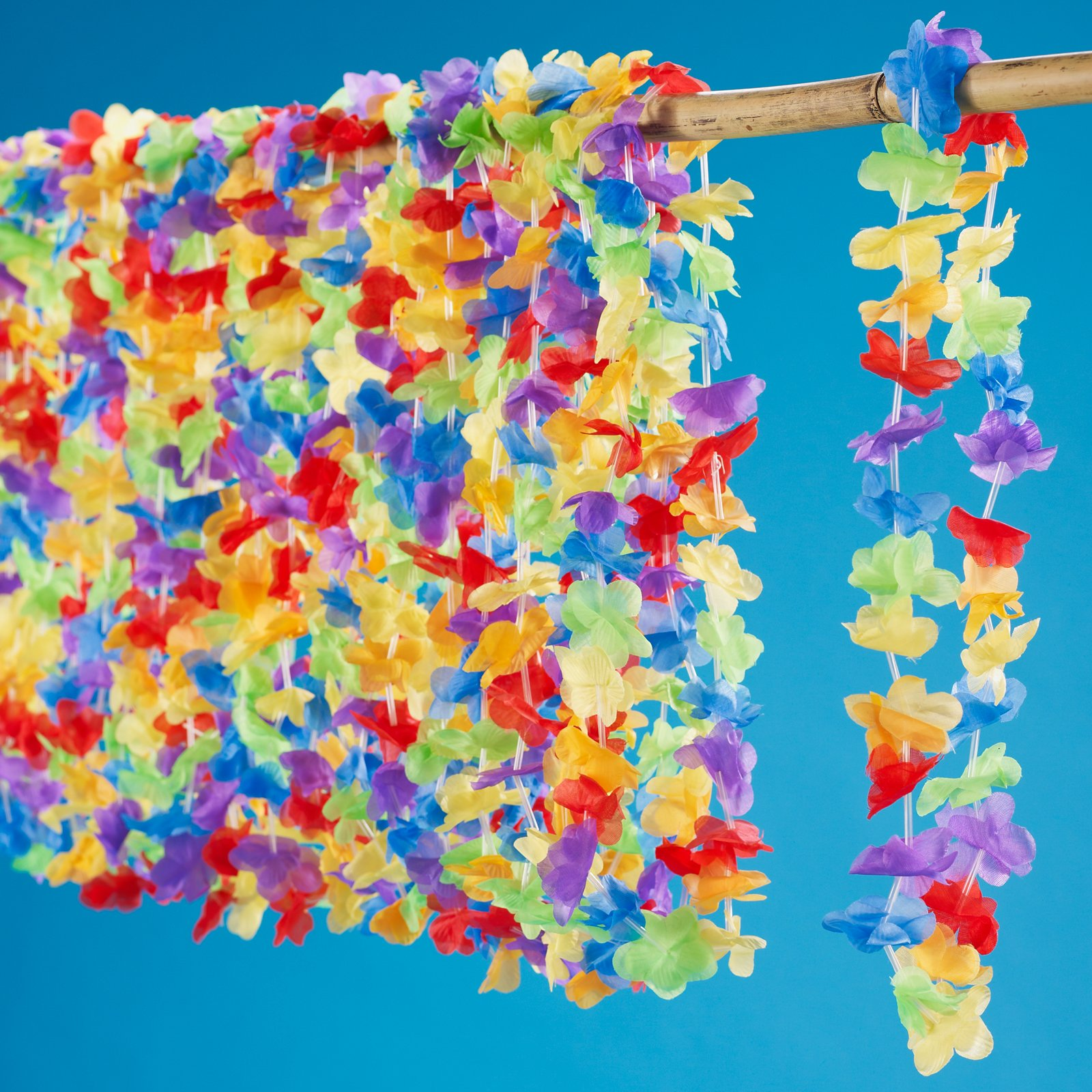 "Multi Colored 42"" Flower Leis (25 count)"