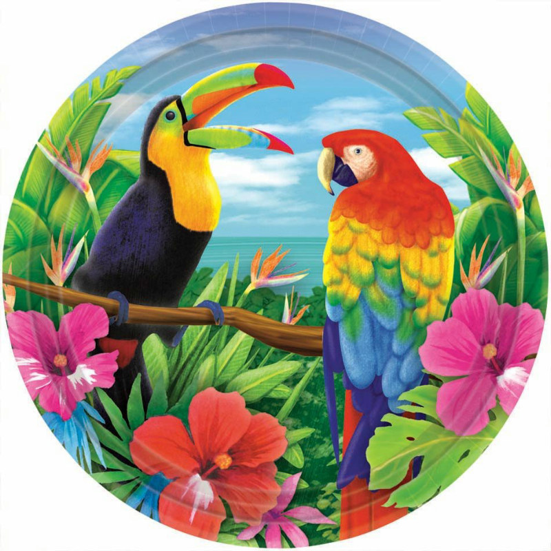 Hawaiian Tropics Dessert Plates (8 count) - Click Image to Close