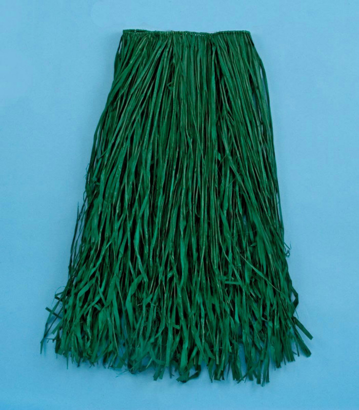 Adult Green Raffia Skirt