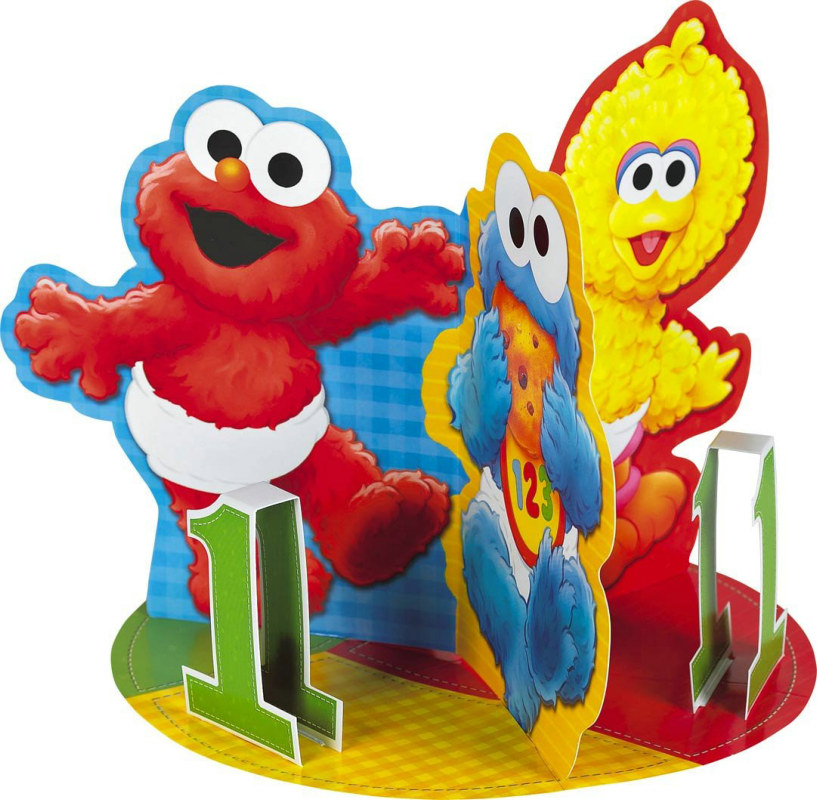Sesame Street 1st Birthday Centerpiece