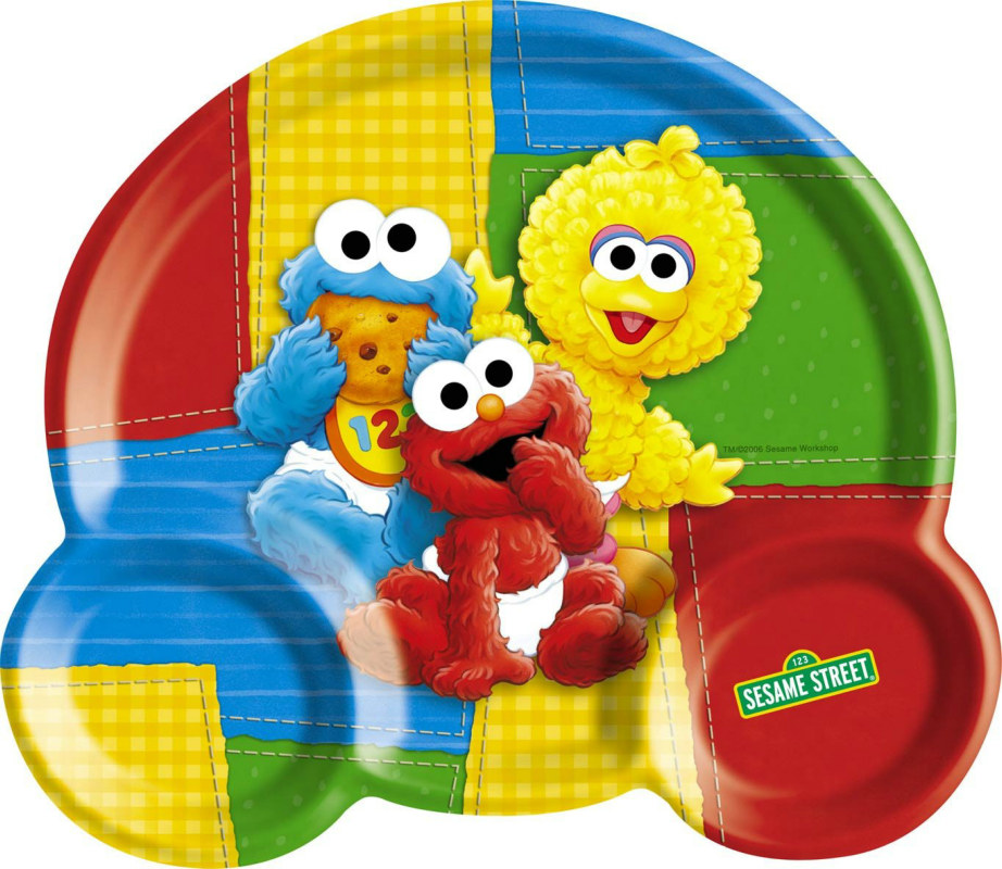 Sesame Street 1st Birthday Kids Divided Plate