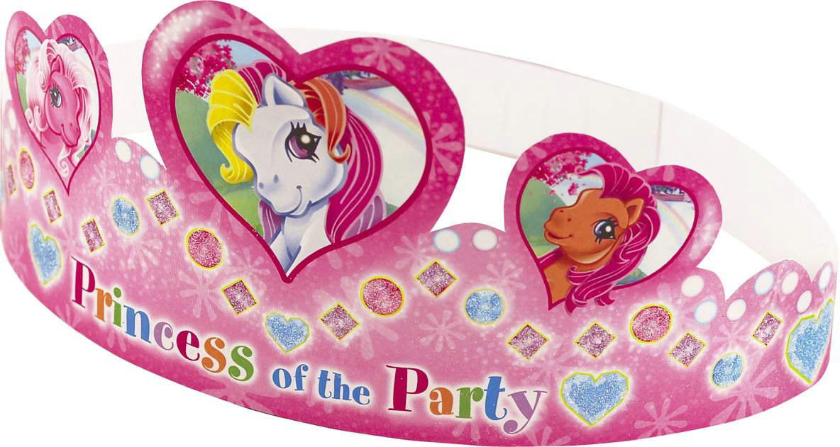 My Little Pony Paper Tiaras (6 count)