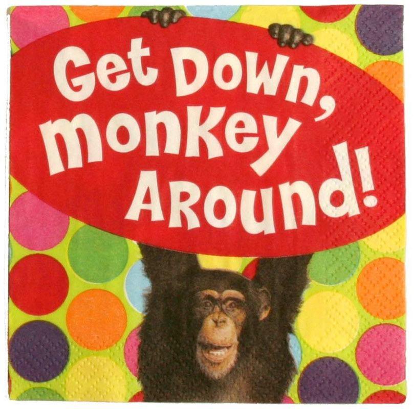 Monkey Around Beverage Napkins (16 count)
