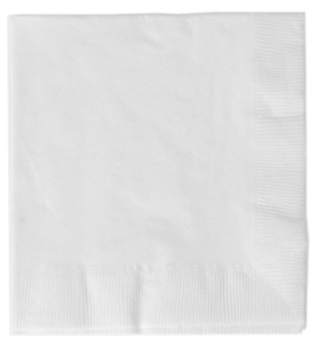 Frosty White Lunch Napkins (50 count)
