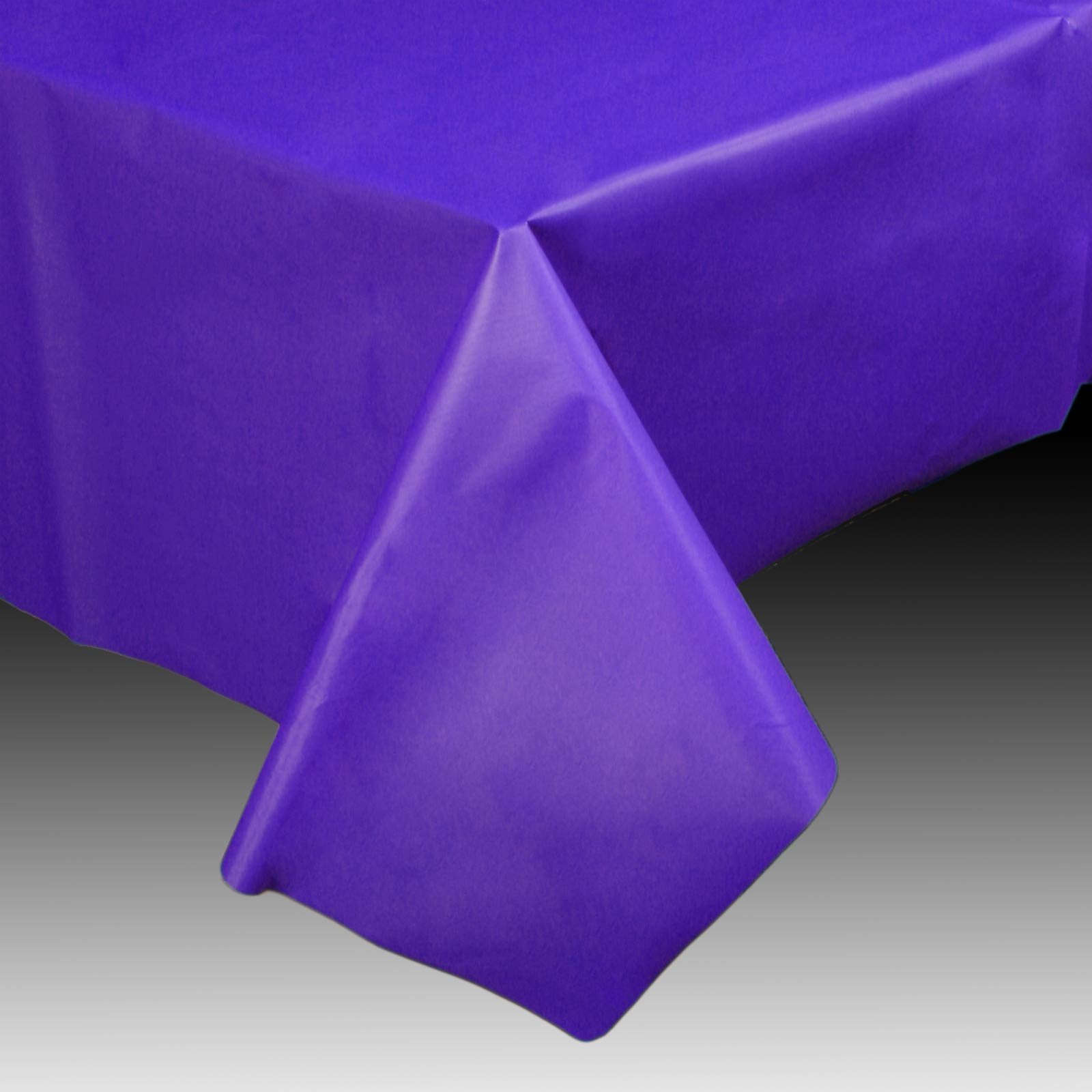 Purple 54 x 108 Plastic Tablecover