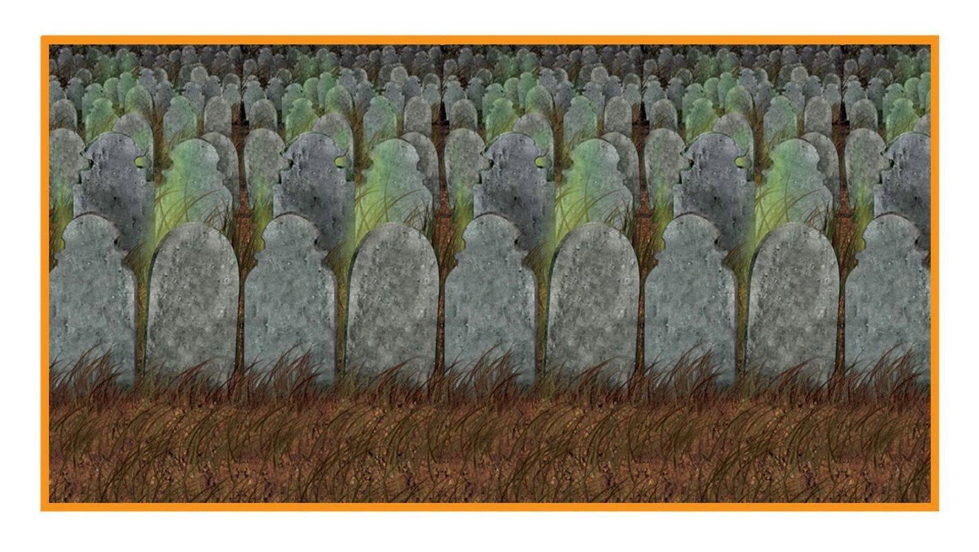 30' Graveyard Backdrop