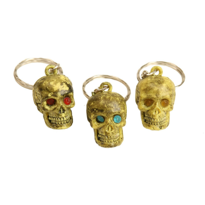 Jeweled Eyes Skull Keychains (12 count)