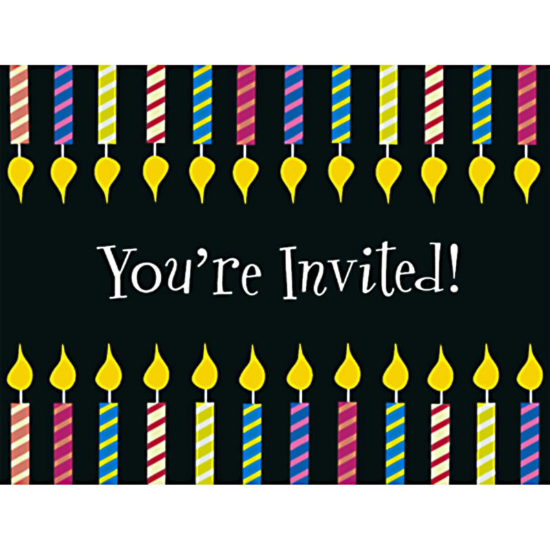 One More Candle Invitations (8 count)